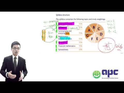 CIMA C03 Fundamentals of Business Mathematics LECTURE APC