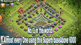 World top player pushing base th12. Almost every top player using this base. Clash of clans