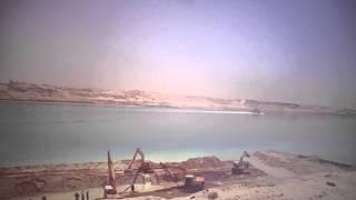 التكريك وعمل جدران حجرية لقناة السويس الجديدة والابحار فى القطاع الاوسط 3مايو2015