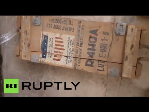 Huge stash of US-made weapons found in terrorist-held Aleppo district