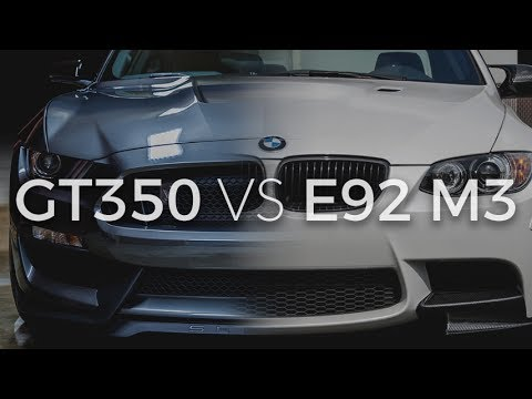Back to Back Driving Comparison of E92 M3 & Shelby GT350