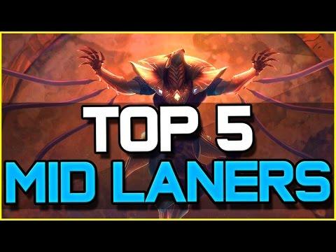 TOP 5 BEST MID LANERS - Patch 6.10 | League of Legends