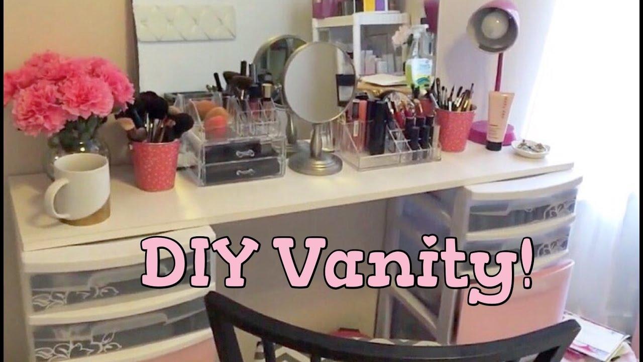 Office/Beauty Room Series: DIY Vanity!!!   YouTube