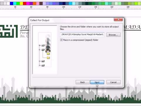How to Collect Output file for prepress,Tutorial Corel Draw, Tips and Trick, Mastering Corel Draw