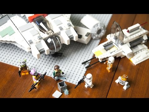 Lego Star Wars Rebels 75053 Ghost paired with Phantom Speed Build