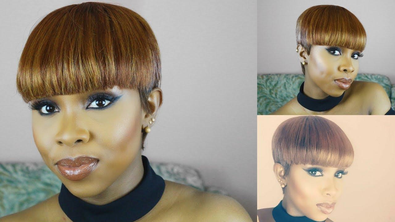 diy| mushroom pixie cut wig tutorial using milkyway 27 pcs +bump feather wrap #33 using a clipper