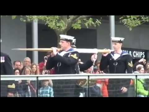 Royal Navy Ships Pay Constable's Dues