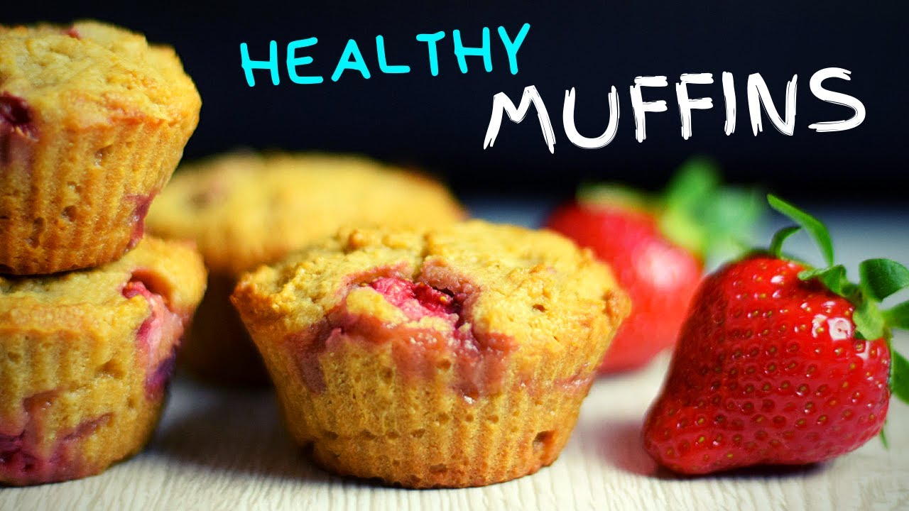 Strawberry Cheesecake Muffins (with oats!)