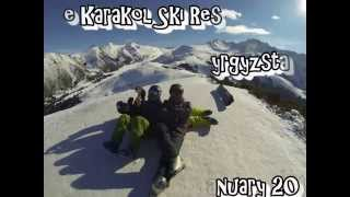 Kyrgyzstan. The Karakol Ski Resort. January 2014. Горнолыжная база Каракол
