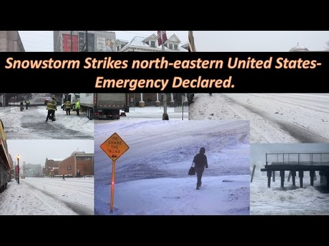 Snowstorm Strikes north eastern United States  Emergency Declared