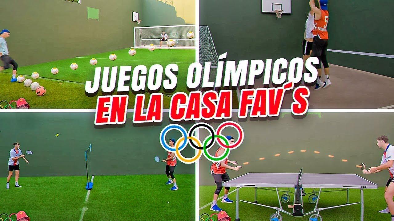 JUEGOS OLÍMPICOS en LA CASA FAV's: 6 DEPORTES! ¿Quien será EL CAMPEÓN?