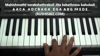 Bahubali Theme Music Piano Notes - VIDEO TUTORIALS