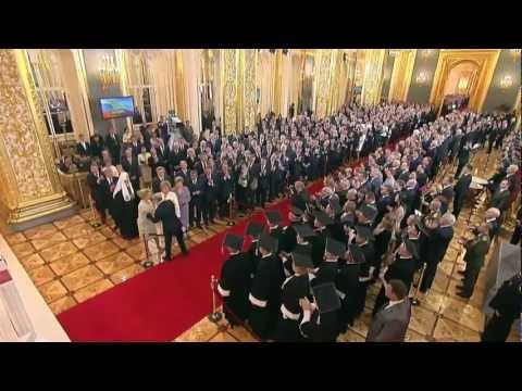 Vladimir Putin inaugurated as President of Russia.07.05.12 -