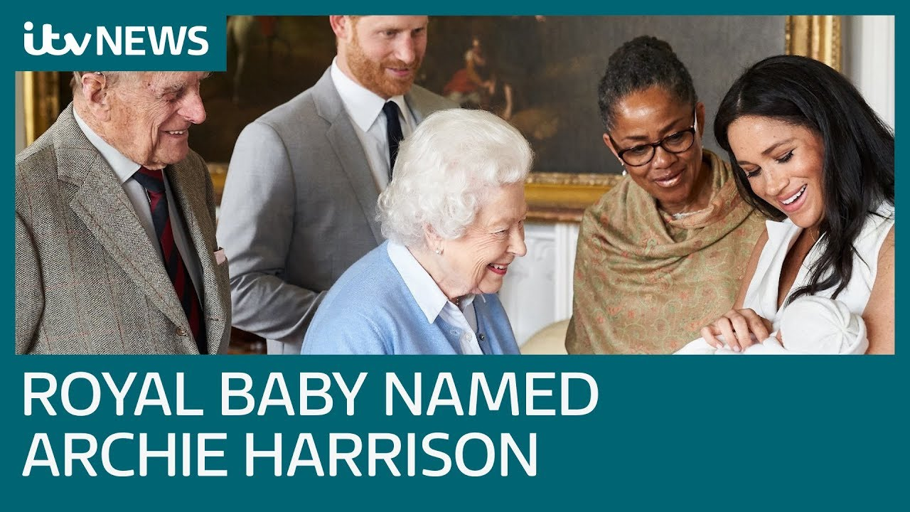 prince harry and meghan name baby son archie harrison mountbatten windsor itv news youtube prince harry and meghan name baby son archie harrison mountbatten windsor itv news