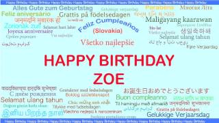 Zoe   Languages Idiomas - Happy Birthday