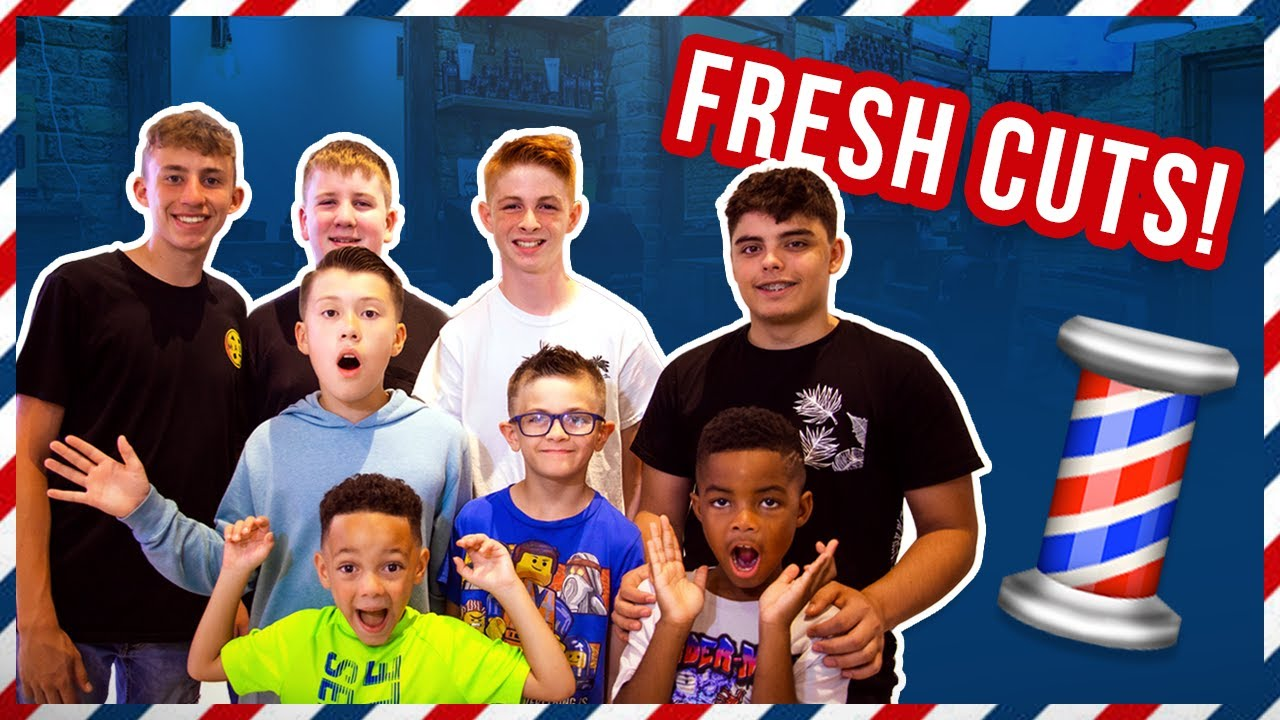 Back To School! | New Hair For School! | Getting Haircuts For 9 Boys!