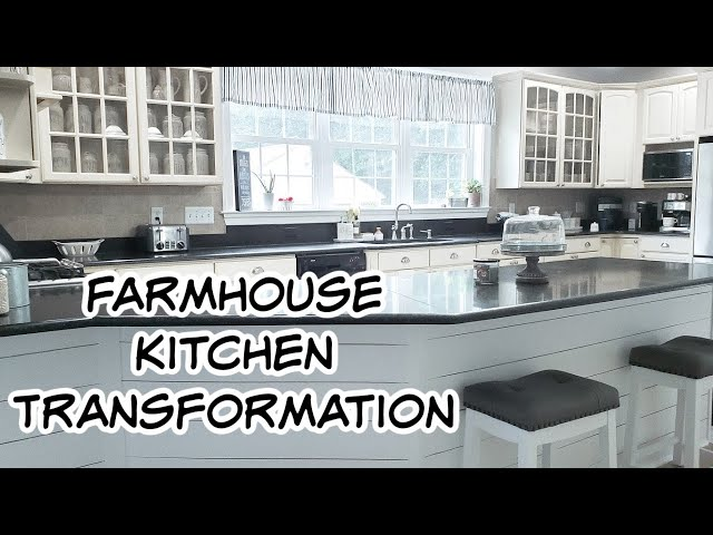 Farmhouse Kitchen Updates Extreme Clean #WithMe 2020 DIY Budget Kitchen Transformation Makeover