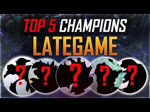 Top 5 Lategame Champions in LoL [League of Legends] [ Deutsch / German]