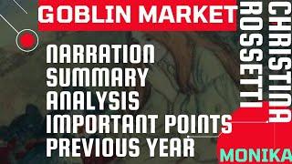 BLOCK-8: The Goblin Market (Christina Georgina Rossetti) MEG01 BRITISH POETRY by Mrs. Monika Gupta
