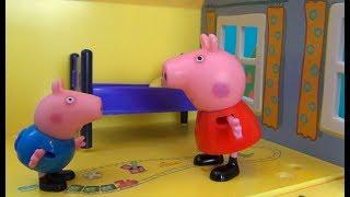 Свинка Пеппа укладывает ДЖОРДЖА спать и рассказывает сказку. Пеппа с Джорджем в доме ложатся спать
