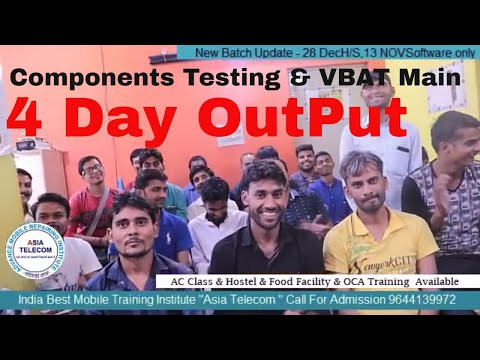 Advance Mobile Repairing#Component testing & Vbat Main Supply full explained by Asia Teleocm Student