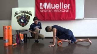 前脛骨筋(スネの前側)をGRIDフォームローラーを使ってほぐす TriggerPointTM Performance Therapy 横浜ビーコルセアーズ x Mueller Japan 放散痛 検索動画 23