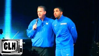 Drake introduces Coach Calipari at Kentucky Big Blue Madness 2014
