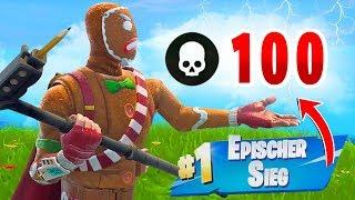 GEWINNEN... aber du musst 100 Kills machen! (Fortnite Challenge)