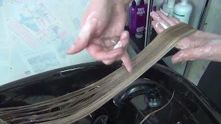 Окрашивание длинных волос. Как сделать мелирование. Обучение парикмахеров.