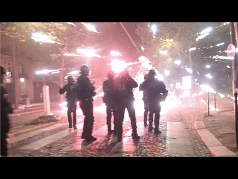 PSG : soirée d'affrontements et nombreuses dégradations (23 août 2020, Paris) [4K]