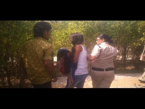 Couple Caught by Police Women Funny Movment