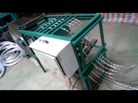 razor wire machine -1 making razor barbed wire from Rongde