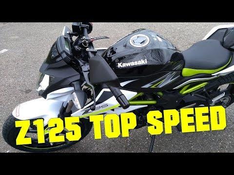 2019 Kawasaki Z125 TOP SPEED!