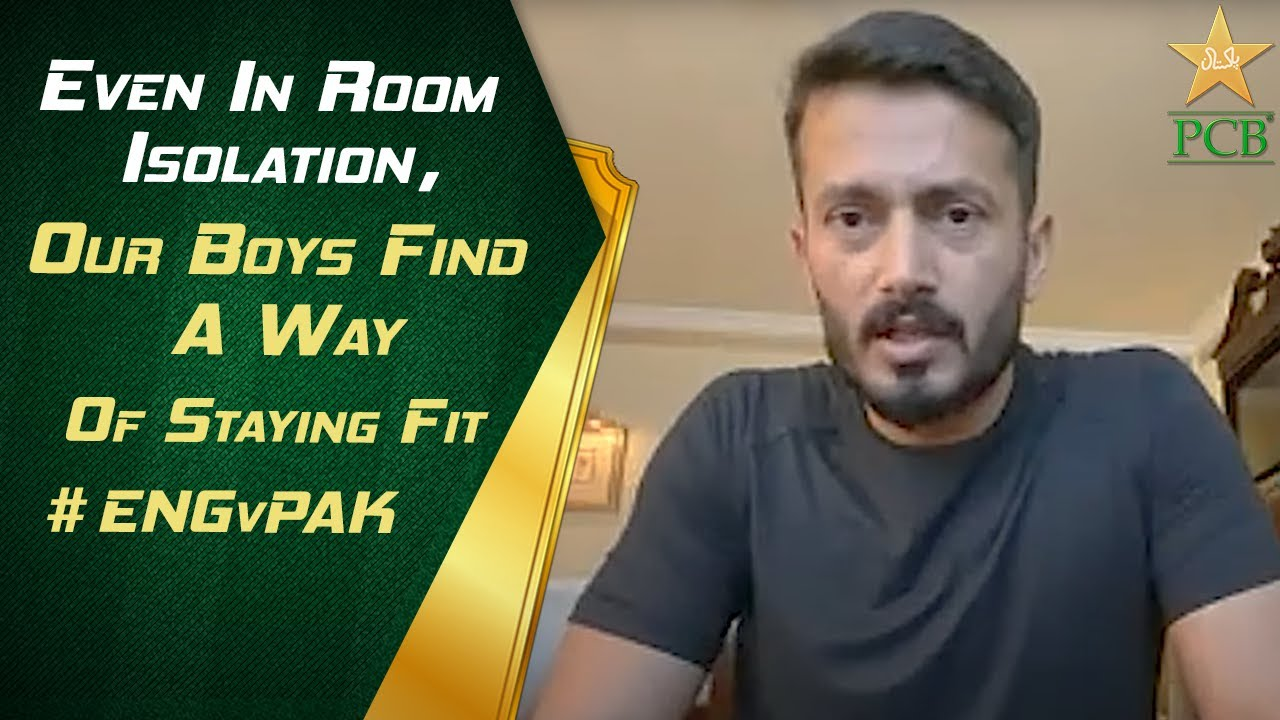 Even In Room Isolation, Our Boys Find A Way Of Staying Fit. - #ENGvPAK