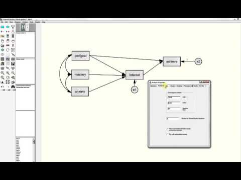 Path Analysis With AMOS (structural Equation Modeling Program) When You Have Complete Data