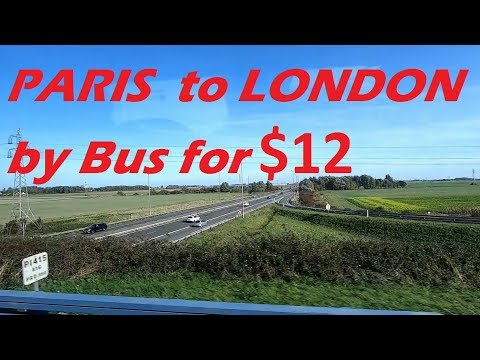 How is bus travel in Europe: Entire journey from Paris to London Victoria with FlixBus
