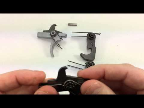 Spikes Tactical Nickel Boron trigger group & ALG ACT, side by side comparison