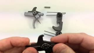 spikes tactical nickel boron trigger group alg act side by side comparison