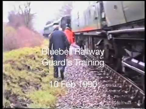 Bluebell Railway Guards' Training 1990