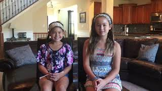 Hannah and Olivia's message about Brain Aneurysm Awareness
