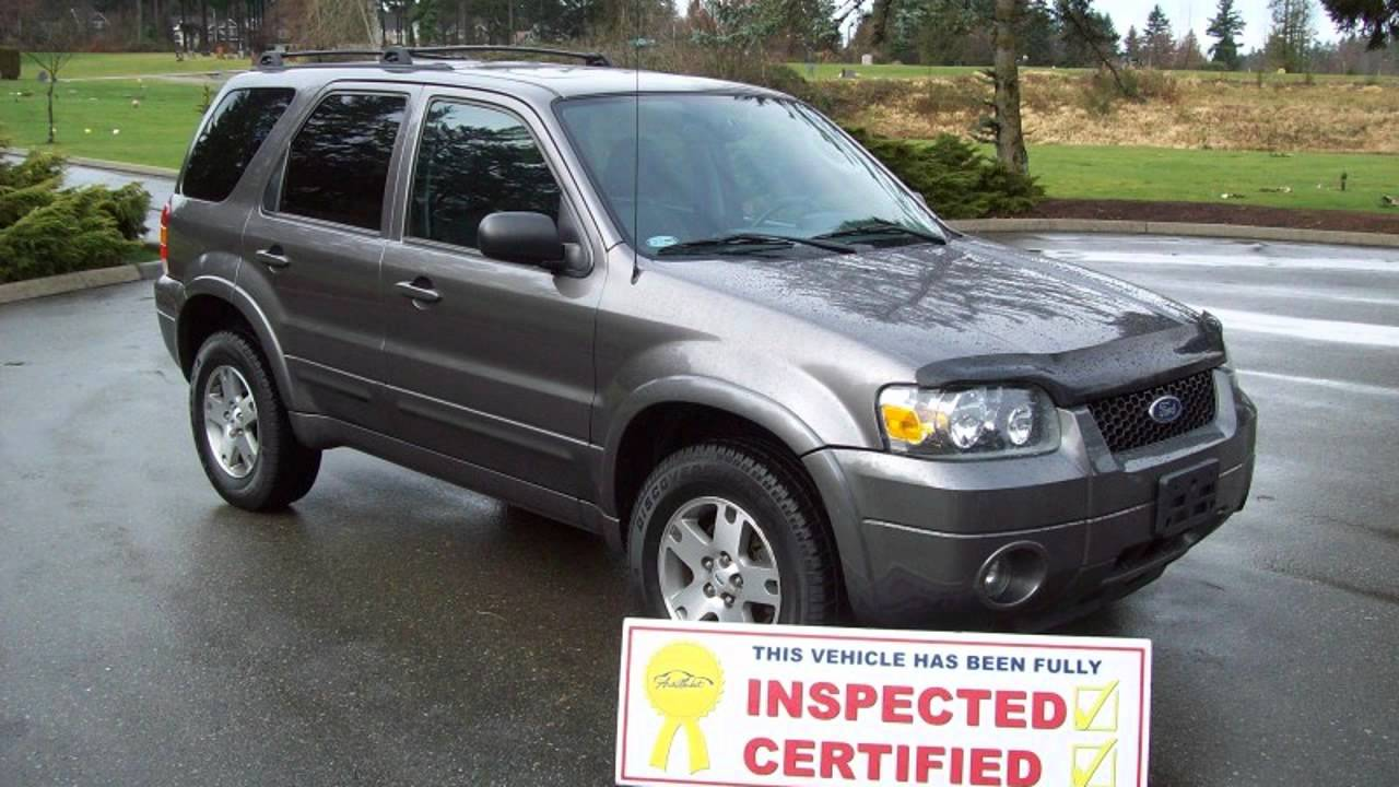 2005 Ford Escape Limited Automatic Htd Leather Sunroof 6 Stacke Suv