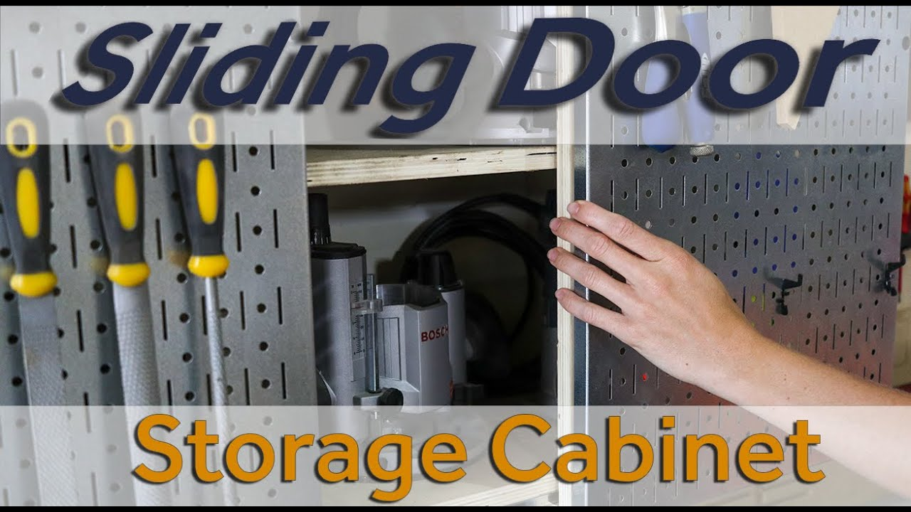 How to Make a Storage Cabinet w/ Wall Controll Sliding Doors