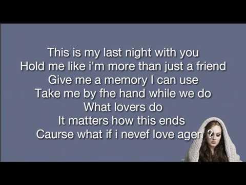 Adele - All I Ask Lyric ( Cover by Shila Amzah )