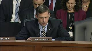 Heinrich Questions Top Intelligence Officials In Senate Intel Committee Hearing