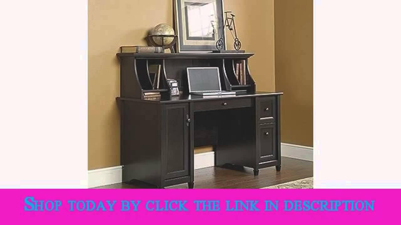 sauder edge water computer desk estate black youtube rh youtube com