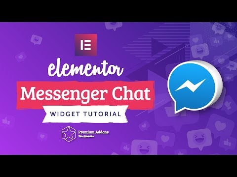 Elementor Facebook Messenger Chat Widget Tutorial For Elementor Page Builder