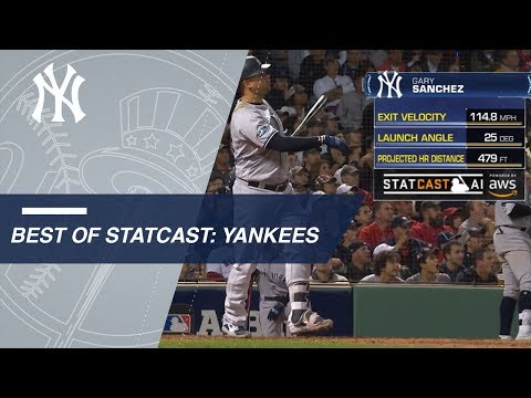 Statcast measures top moments from the Yankees