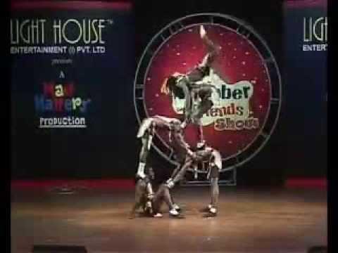 African Acrobats in (Delhi) INDIA
