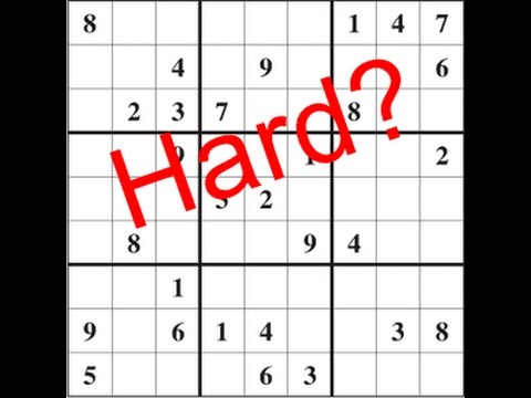 How to Solve Sudoku Puzzles in Less Than 1 Minute - YouTube