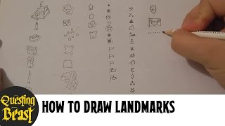 How to Draw Landmarks: Fantasy Map Making Tutorial for DnD